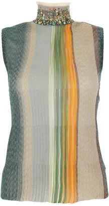 Missoni Embellished Turtleneck Sleeveless Top