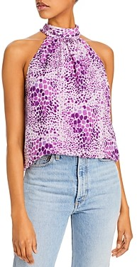 Ramy Brook Animal Print Halter Top