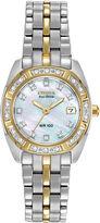 Citizen Eco-Drive Womens Diamond-Accent Watch EW1594-55D