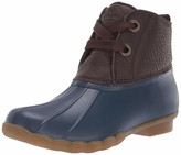 Sperry Top Sider Women's Saltwater 2-Eye Leather Brown/Navy Rain Boot 8 M US