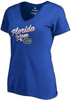 Women's Fanatics Branded Royal Florida Gators Team Mom V-Neck T-Shirt