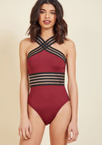 ModCloth Rimini Radiance One-Piece Swimsuit in L