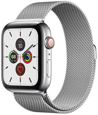 Apple Watch Series 5 GPS + Cellular, 44mm Stainless Steel Case with Milanese Loop