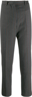 Incotex Pinstripe Cropped Trousers
