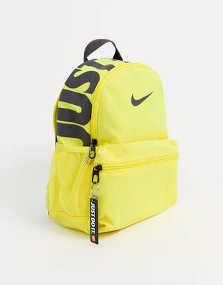 Nike Just Do It mini backpack in yellow