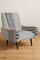 Anthropologie Banded Stripe Losange Chair