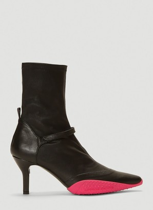Marine Serre Pointed Toe Ankle Boots