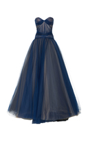 J. Mendel Strapless Draped Bodice Gown