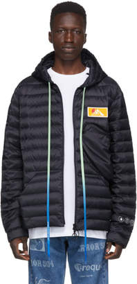 Off-White Navy Down Packable Puffer Jacket