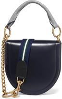 Sacai Leather Shoulder Bag - Storm blue