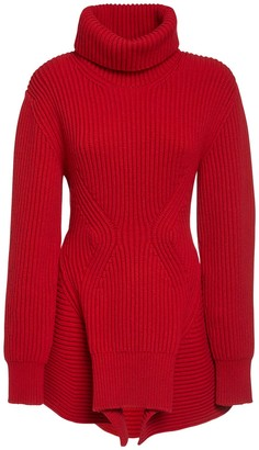 Alexander McQueen Oversize Wool & Cashmere Knit Sweater