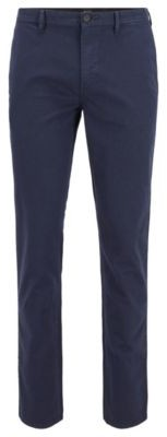 HUGO BOSS Slim-fit chinos in micro-patterned stretch cotton