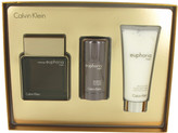 Calvin Klein Euphoria Intense Gift Set for Men (3.3 oz EDT Spray + 2.6 oz Deodorant + 3.4 oz After Shave Balm)