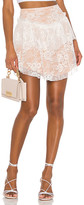 For Love & Lemons Verbena Lace Mini Skirt