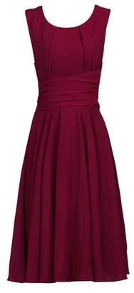 Dorothy Perkins Womens *Jolie Moi Burgundy Belted Fit And Flare Dress