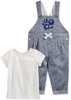 First Impressions 2-Pc. T-Shirt & Marled Overall Set, Baby Girls (0-24 months), Only at Macy's