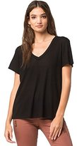 Volcom Junior's Dish It Out Loose Fitting V-Neck Tee