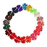 Top Plaza Hair Clips Baby Girls Kids Butterfly Ribbon Hair bows Alligator Clips Bulk Hair Barrettes Set Crhistmas Gift(20 pcs Solid color #2)