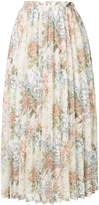 CLANE floral print pleated skirt