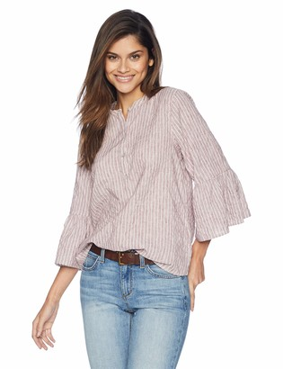 Lucky Brand Women's Stripe Bell Sleeve TOP