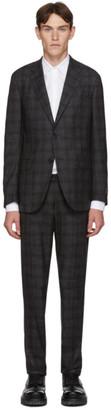 Ermenegildo Zegna Grey Wool Check Milano Easy Suit