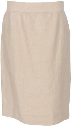 Chanel Ecru Linen Skirts