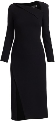 Oscar de la Renta Asymmetric Sheath Dress