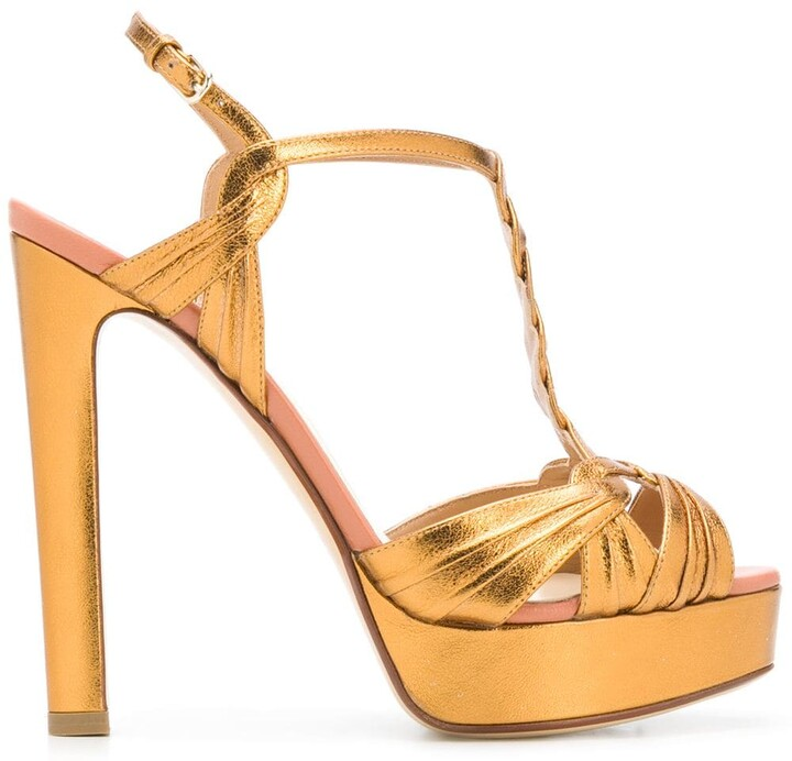 Thumbnail for your product : Francesco Russo Braided Strap Platform Sandals
