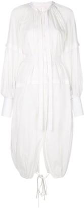 Proenza Schouler Cotton Voile Long Sleeve Dress