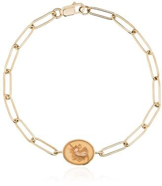 Retrouvai 14kt Yellow Gold Unicorn Signet Bracelet
