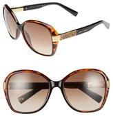 Jimmy Choo Women's 57Mm Butterfly Sunglasses - Dark Havana