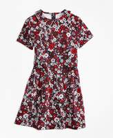Brooks Brothers Short-Sleeve Cotton Sateen Floral Dress