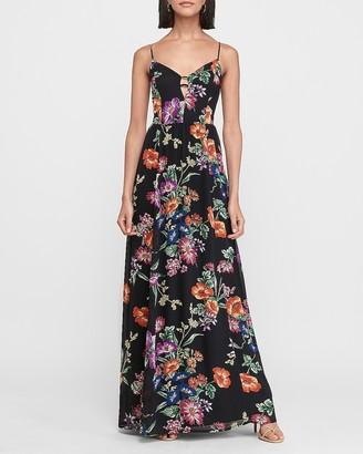 Express Floral Cut-Out Maxi Dress