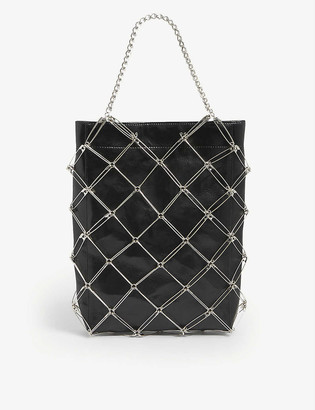 Comme Noir Kei Ninomiya Safety Pin metal and leather tote bag