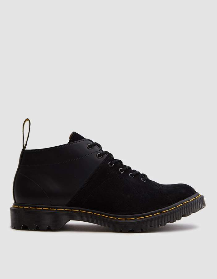 Dr. Martens EG Church Monkey Boot in Black Smooth Leather