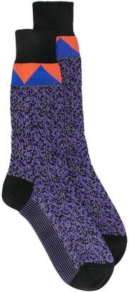 Prada Intarsia Mid-Calf Socks