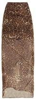 Nili Lotan - Ella Leopard-print Chiffon Slip Skirt - Leopard