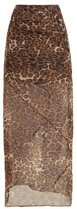 Nili Lotan Ella Leopard-print Chiffon Slip Skirt - Womens - Leopard