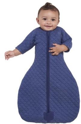 Halo2Cloud HALO Easy Transition SleepSack Wearable Blanket, 100% Cotton, Navy Heather, Small