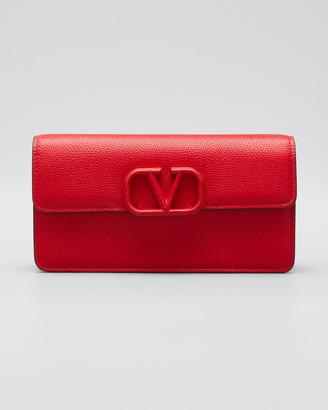 Valentino Garavani VSLING Grain Leather Wallet On Chain