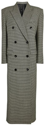 Magda Butrym Double-Breasted Houndstooth Coat