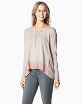 Charming charlie Pleated Hem Sweater