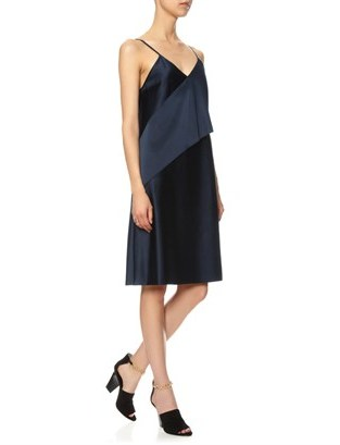 3.1 Phillip Lim Navy Satin Sash Slip Dress