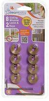 Dream Baby Dreambaby Window Lock Brass 8 Pack, 2 Keys