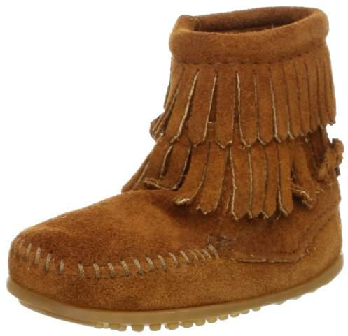 Minnetonka Double Fringe Side Zip Boot (Toddler/Little Kid/Big Kid)