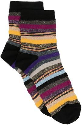 M Missoni Glittered Stripe Socks