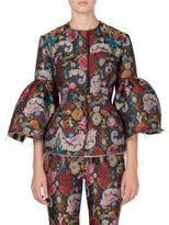 Marques Almeida Marques'Almeida Brocade Bell Sleeve Jacket