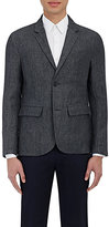 James Perse MEN'S DELAVE SPORTCOAT-GREEN SIZE 4