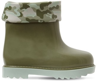 Mini Melissa Scented Camouflage Print Rubber Boots