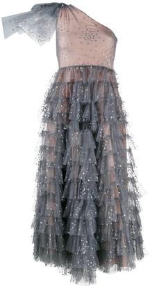 RED Valentino Glitter Heart Tulle Midi Dress